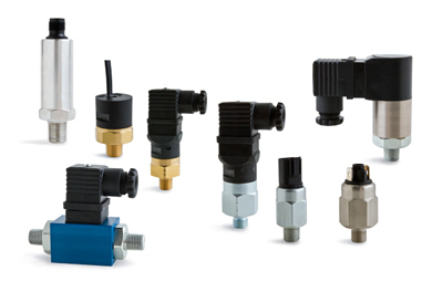 Pumps, motors, flow dividers, pressure switches/transmitters